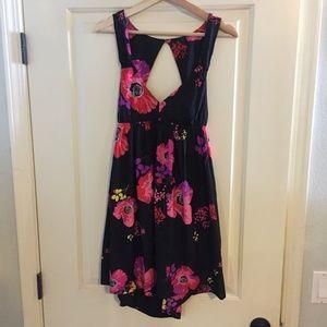 Roxy Dress Sleeveless M Black Floral